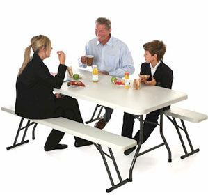Family Foldaway Bench And Table