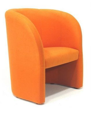 Bright-orange-Tub-Chair-Fabric
