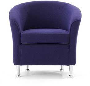 Designer-Fabric-Compact-Sofa-Chrome-Feet