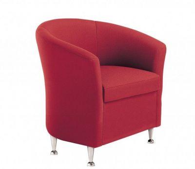 Fabric-Red-Sofa-Designer-with-Chrome-Feet