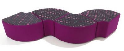 Wave-Effect-Quadrant-Seating-Combination-Fabric-Upholstered