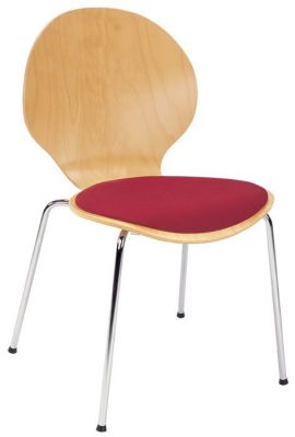 Round-Back-and-Seat-Plywood-Cafe-Chair-with-Upholstered-Fabric-Seat