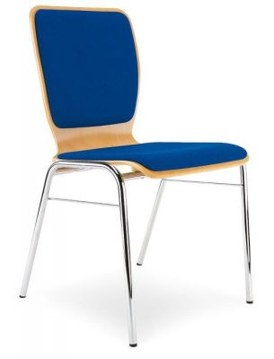 Sleek-Design-Cafe-Chair-with-Chrome-Frame-Fabric-Seat-and-Back