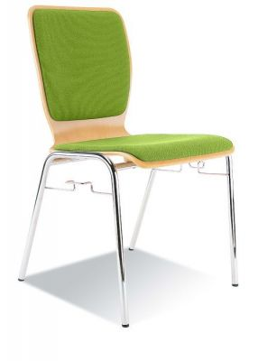 Bright-Fabric-Upholstered-Cafe-Chair-Chrome-Frame