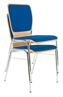 Stacking-Chrome-Frame-Upholstered-Cafe-Chair