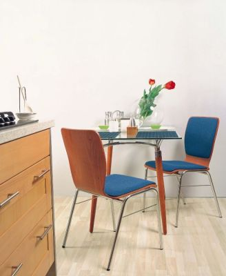 Designer-Cafe-Chair-with-an-Upholstered-Seat-and-Back