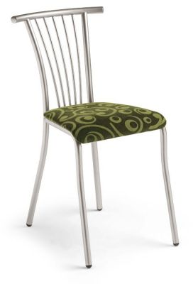 High Quality Bistro Chair With Wire Back And Upholstered Cushioned Seat