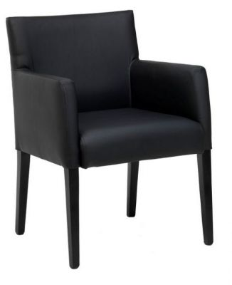 Professional-Faux-Leather-Dining-Chair-Fully-Upholstered-Seat