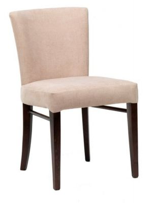High-quality-finish-dining-chair-in-faux-leather-with-cushioned-seat-and-back