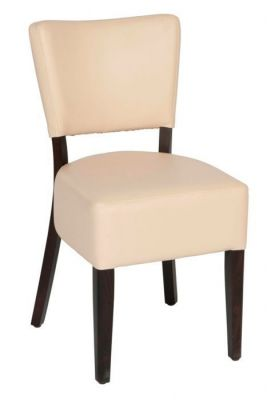 Chunky-Design-Restaurant-Dining-Chair-in-Cream-Faux-Leather