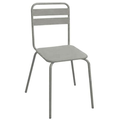 Grey Finish Industrial Style Sidechair