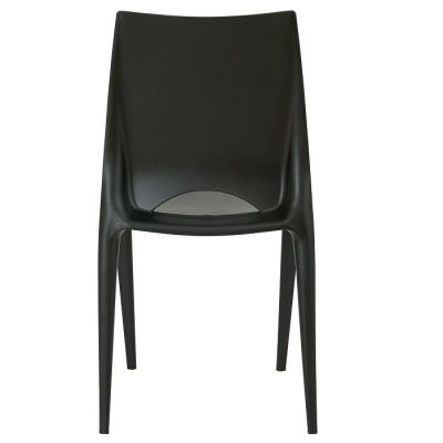Black Polypropelene Chair All Over Plastic Indoor And Outdoor Use