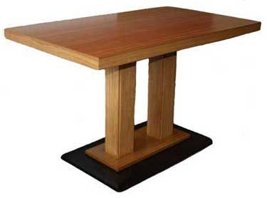Rectangular Oak Veneer Wood Table