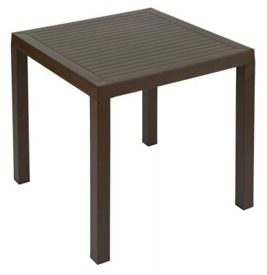 Outdoor Brown Polypropylene Square Table