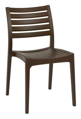 High Density Poly Chair In Brown