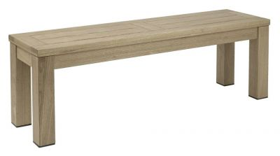 Weathered Finish Chunky Design Outdoor Bench Seating