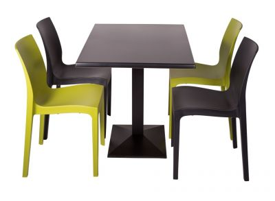 Poly Chair Bistro Seat Colour Seats And Werzalit Top