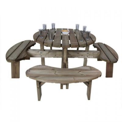 Eight Seater Outdoor Table With Tight Grain Timber