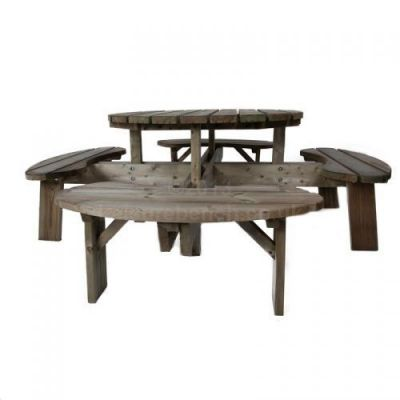 Heavy Duty Outdoor Round Picnic Table