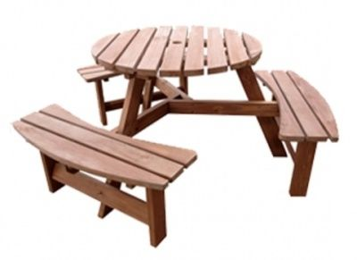 Six Seat Commercial Outdoor Use Picnic Table