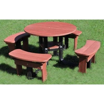 Plastic Outdoor Picnic Table Seats 8 People