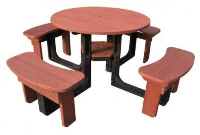 High Density Outdoor Plastic Recycled Picnic Table