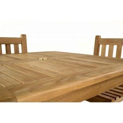Teak Finish Outdoor Table