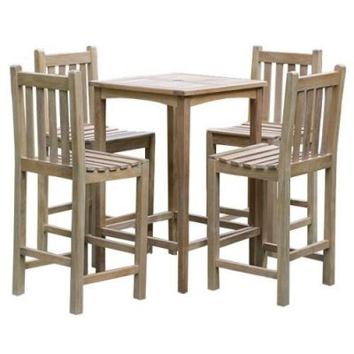 Outdoor Teak Bar Height Chairs And Table