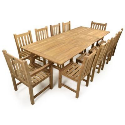 Outdoor Banquet Set Of Teak Furniture