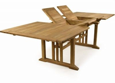 Double Leaf Teak Extendable Table