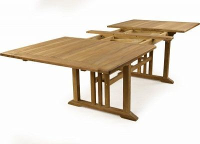 Double Leaf Teak Outdoor Extendable Table