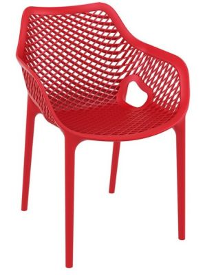Vinny Outdoor Poly Chair Red