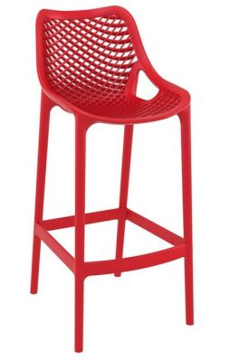 Red Designer Outdoor Poly High Stool