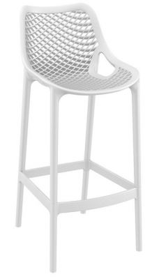 White Designer Outdoor Poly High Stool