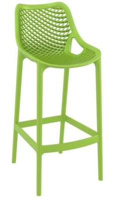 Green Outdoor Poly High Stool