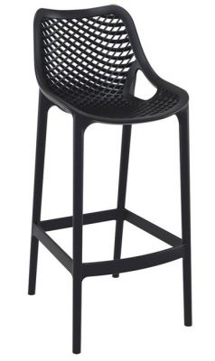 Black Outdoor Poly High Stool Designer
