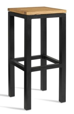 Tuska Robina Outdoor High Stool Black Frame