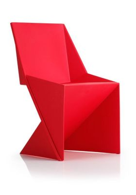 REd Designer Poly Chair Indoor And Outdoor Use