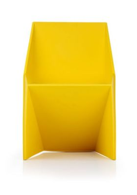 Yellow Indoor And Outdoor Use Poly Chair