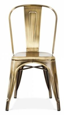 Tollix V3 Side Chair Antique Brass Finish
