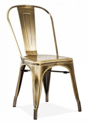 Tollix V3 Side Chair Front Angle Antique Brass Finish