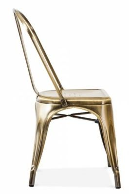 Tollix V3 Side Chair In Antique Brass Side View