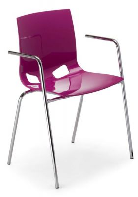 Margo Armchair In Purple Front Angle