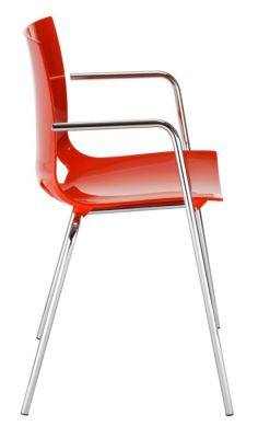 Margo Arm Chair In Red Side View