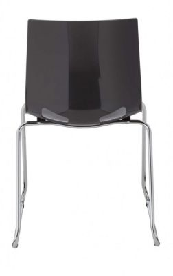 Margot Chair With A Sled Frame In Anthracite Rear View