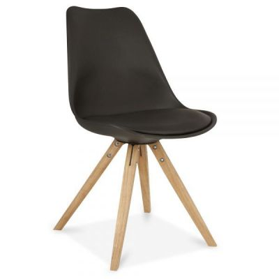 Pyramid Chair Black Poly Seat Front Angle