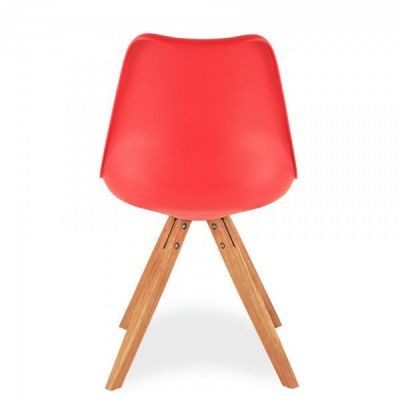 Pyramid Dining Chair Red Seat Grear View