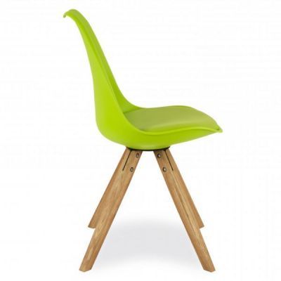 Piyramid Chair Lime Green Seat Side View