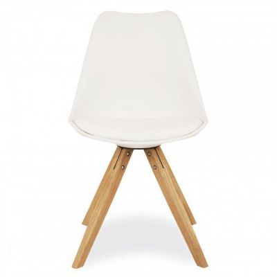 Pyramid Chair White Seat
