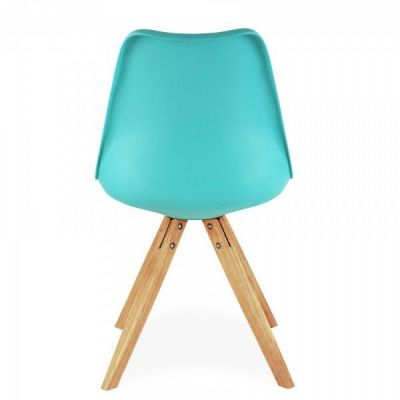 Pyramid Dining Chair In Light Blue Rear Shot